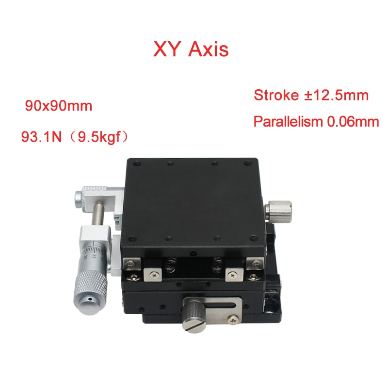 XYAxis 90*90mm precisión Manual Etapas lineales Cnc carril guía deslizante Mesa PLY90-L/C/R carril lineal