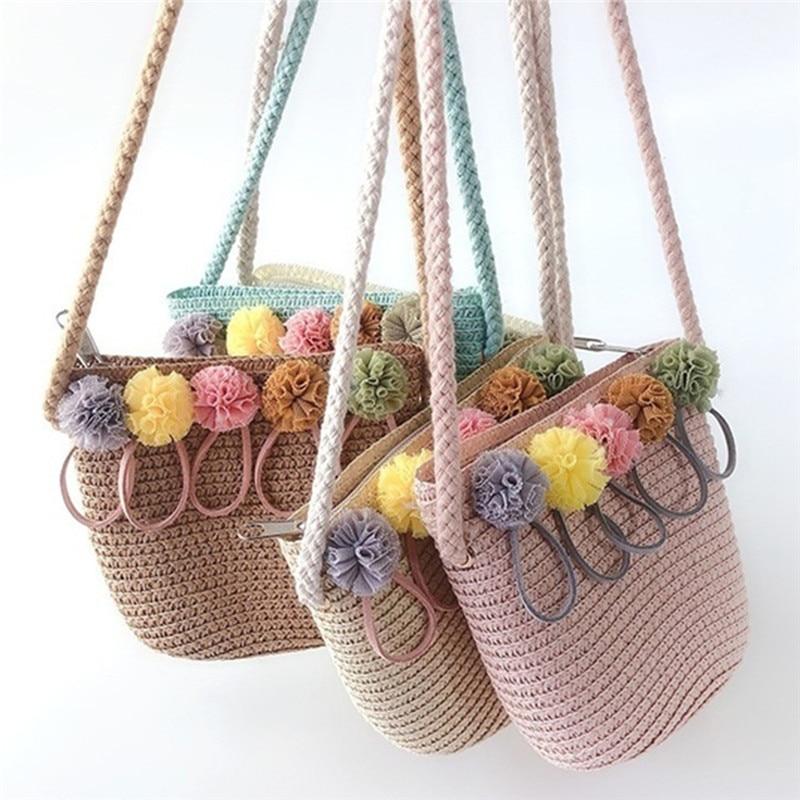 AliExpress - Fashion Summer Children Girls Shoulder Bag Beautiful Bowknot Straw Messenger Bag Kids Keys Coin Purse Cute Princess Mini Handbag