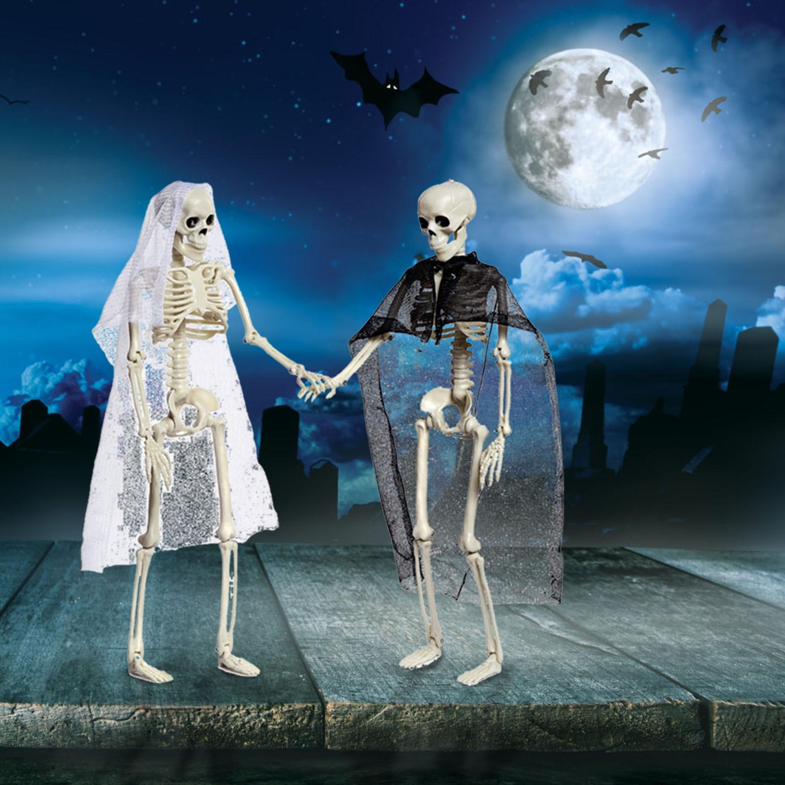 Ужас Хэллоуин Скелет Пары жениха невесты человеческое тело анатомическая модель вечерние ринка бар дома смешные гаджеты декор комнаты орн...