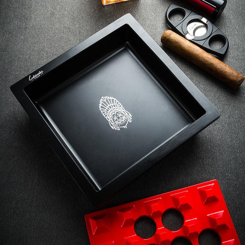 LUBINSK Luxury Removable Cigarette Cigar Ashtray Large Ash Slot Cigar Holder Travel Tobacco Windproof Ash Tray For COHIBA CA-017 enlarge