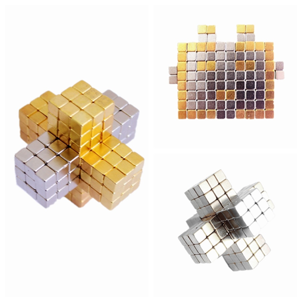 Imanes de construcción de 3mm y 5mm, cubo magnético, bloques de cubos mágicos, esferas, bolas, puzle, con imán de cuadro de Metal, juegos para adultos