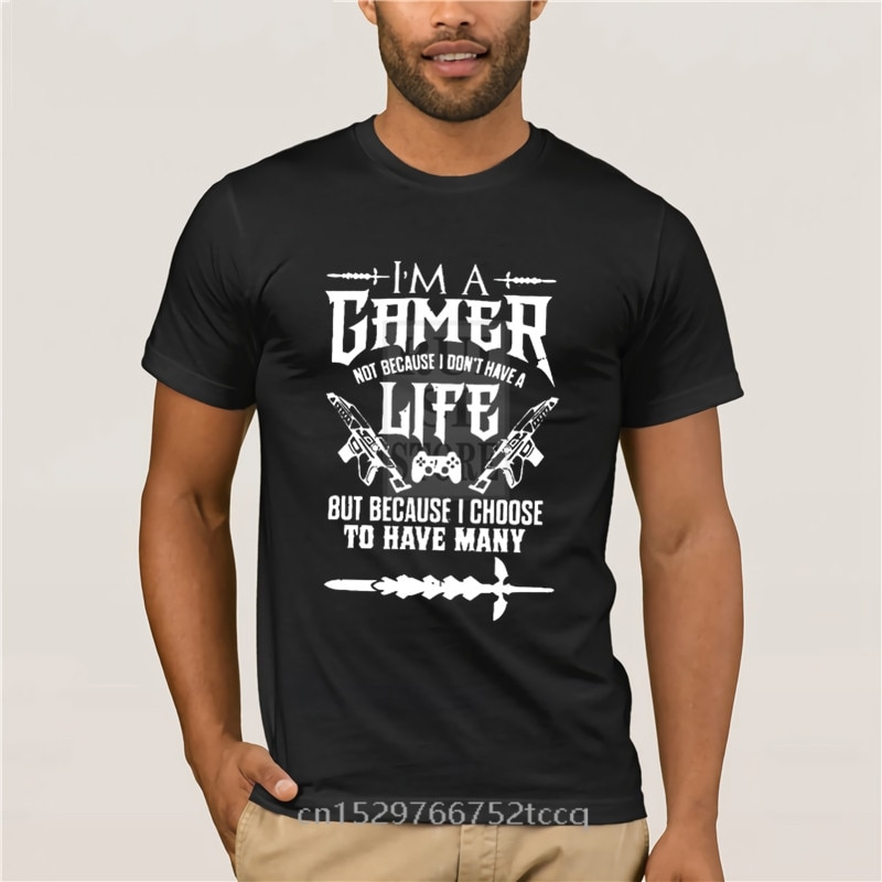 Trendy Creative Graphic T shirt Top designer Tops Gamer For Life Kind Of Lifestyle Video Game casual Fashion summer T shirt
