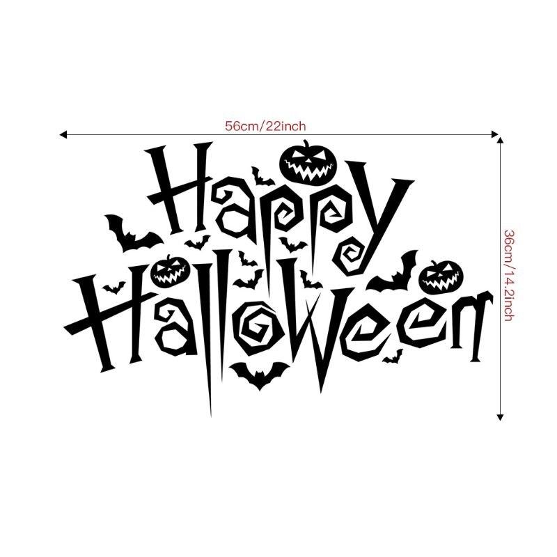Halloween PVC mágico 3D techo piso Pegatina el arte decoración del hogar murales papel tapiz R7RC
