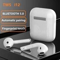 i12 original tws in ear blutooth earphones wireless sport headset stereo earbuds headphones fone de ouvido auriculares pk i9000