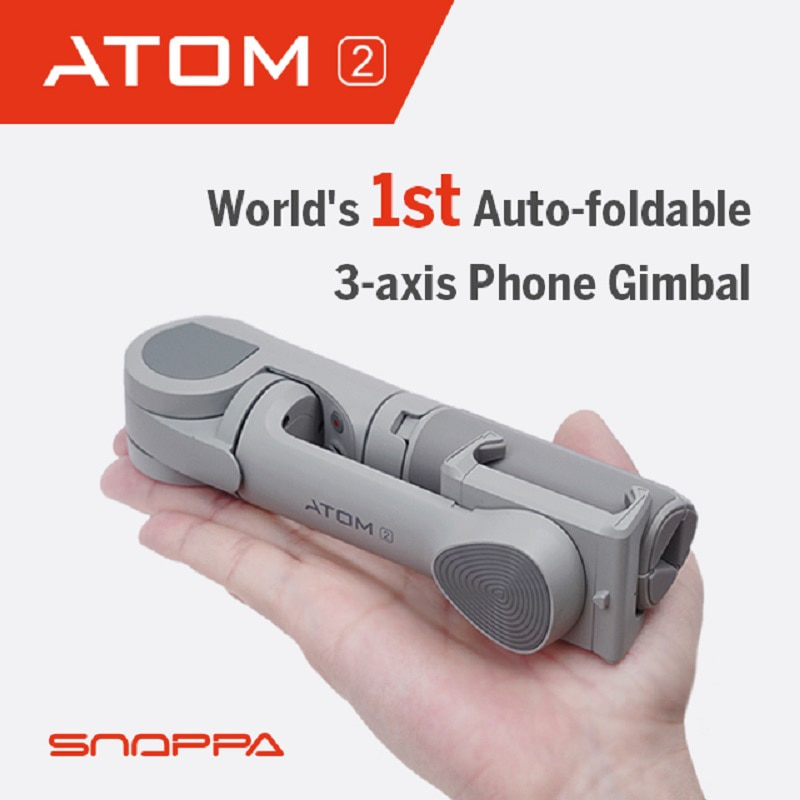 Snoppa ATOM 2 Smartphone Gimbal 3-Axis Handheld Stabilizer with Tripod for iPhone Huawei Samsung Xiaomi ATOM2 Pitch Axis motor