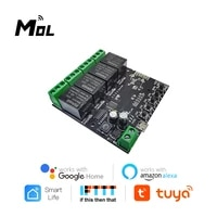 MOL     Module de commutateur WiFi Tuya 4CH  relais sans fil  application Smart life  telecommande  minuterie intelligente pour maison intelligente avec Alexa Google Home
