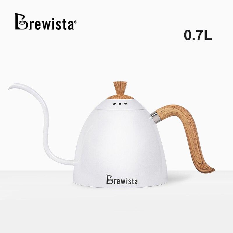 بريستا أرتيسان 700 مللي Gooseneck موقد مسطح غلاية صب أكثر من إبريق قهوة مفيدة للسيطرة على سرعة المياه 304 الفولاذ المقاوم للصدأ