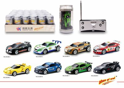 2020 Hot Coke Cans Mini Rechargeable Remote Control Car High-Speed Car Children's Gift Quality Products 7.5CM PVC enlarge