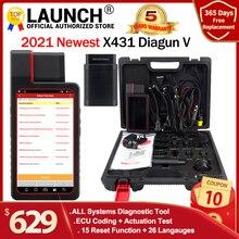 Старт X431 Diagun V Полный Системы Diagnotist инструмент 2 года бесплатного обновления X 431 Diagun Характеристическая вязкость полимера сканер штрих кода лучше, чем Diagun iii