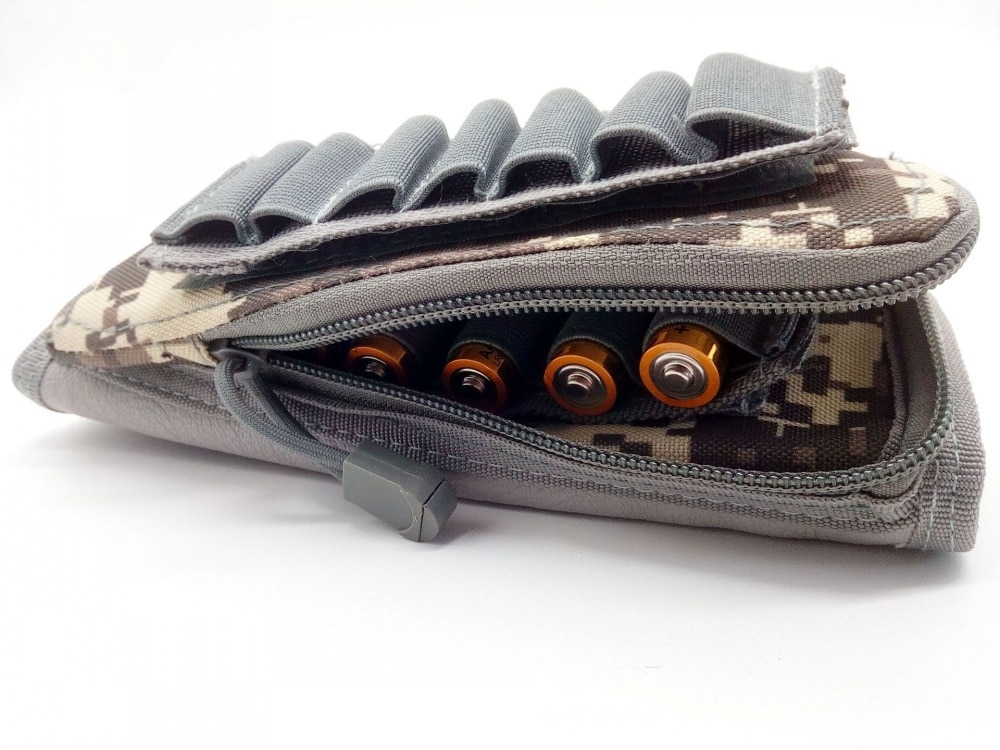 Military Tactical Buttstock Cheek Rest Shell Pouch Gun Rifle Stock Airsoft Ammo Cartridge Carrier Shooting Hunting Bullet Holder