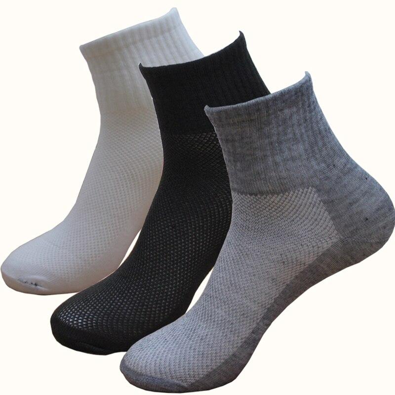 Calcetines Unisex de malla, 5 pares, calcetines tobilleros cortos transpirables de corte bajo para mujer y hombre, calcetines informales de pantalón corto en negro/gris/blanco