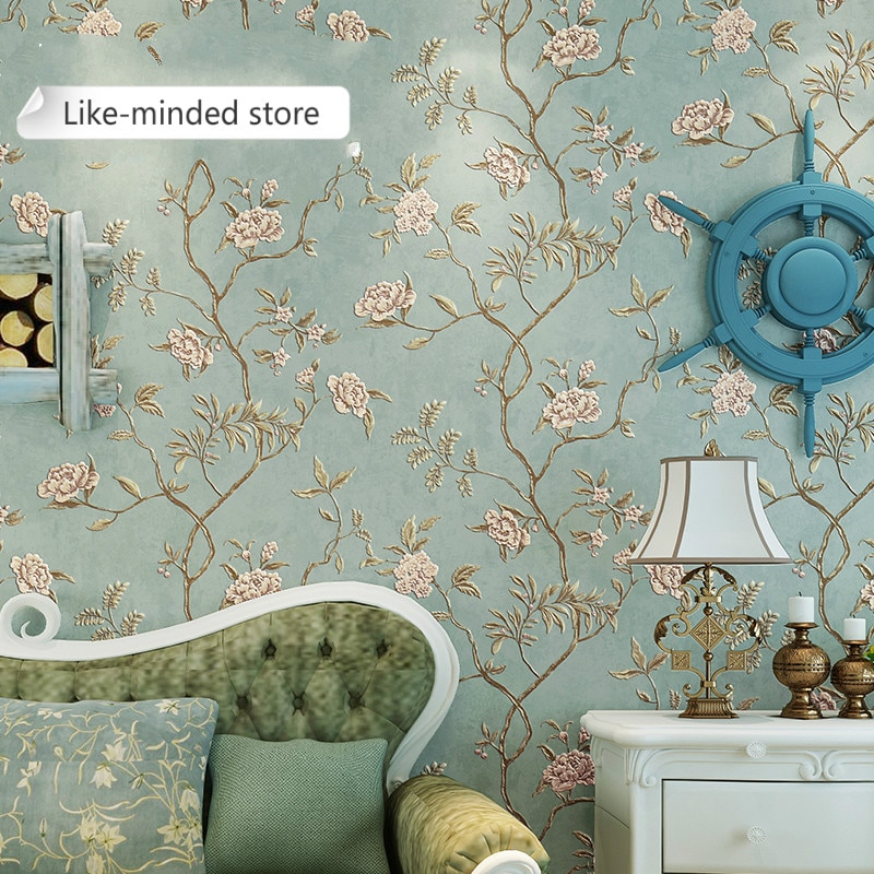 beibehang pastoral flowers wallpaper for walls 3d wall paper for wall 3 d classic embossed tv room bedroom wall paper home decor Green Teal Floral Embossed Wallpaper For Bedroom Living Room Walls Romatic Red Flower Wall Paper Home Decor Beige wallpaper
