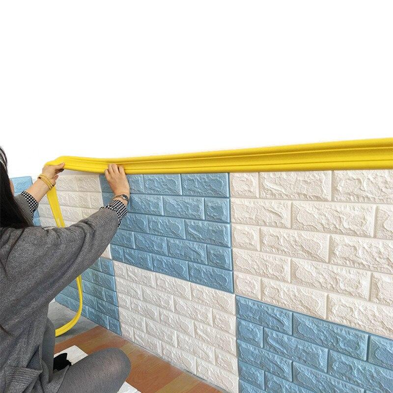 2 M Klebstoff Taille Linie Wand Aufkleber 3D Stereo Hintergrund Wand Dekor Streifen Decke Gips linie Kinderzimmer Dekoration Foto rahmen