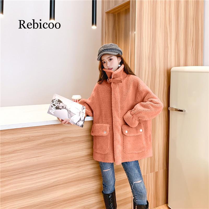 Warm Winter Faux Fur Coat Women Fashion Shaggy Causal Overcoat Warm Plush Zipper Jacket Female Casual Autumn  Loose Coat недорого