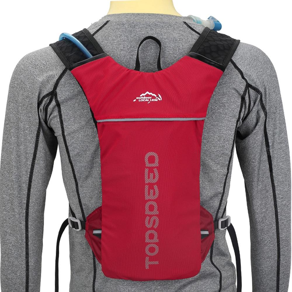 Nuevo ciclismo mochila de hidratación 5L Running hidratación mochila de los hombres y las mujeres Jogging deporte mochila rastro corriendo maratón bolsa