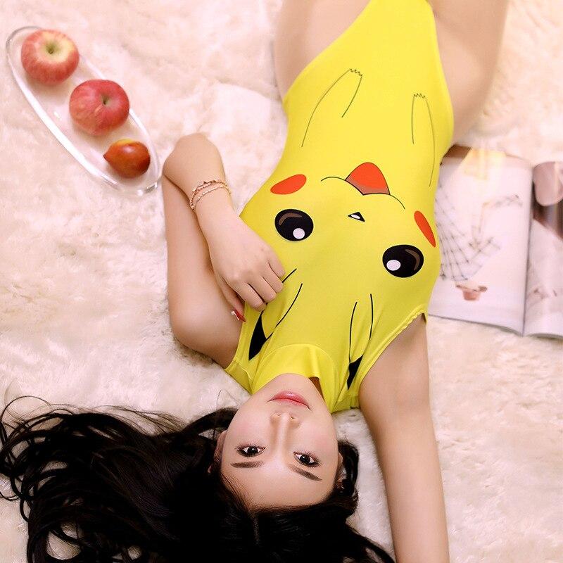 Lencería lesbiana Cosplay Lencería erótica mujer Pikachu muerto Banco agua grasa Ding mono erótico Sexy vestido teniendo sexo