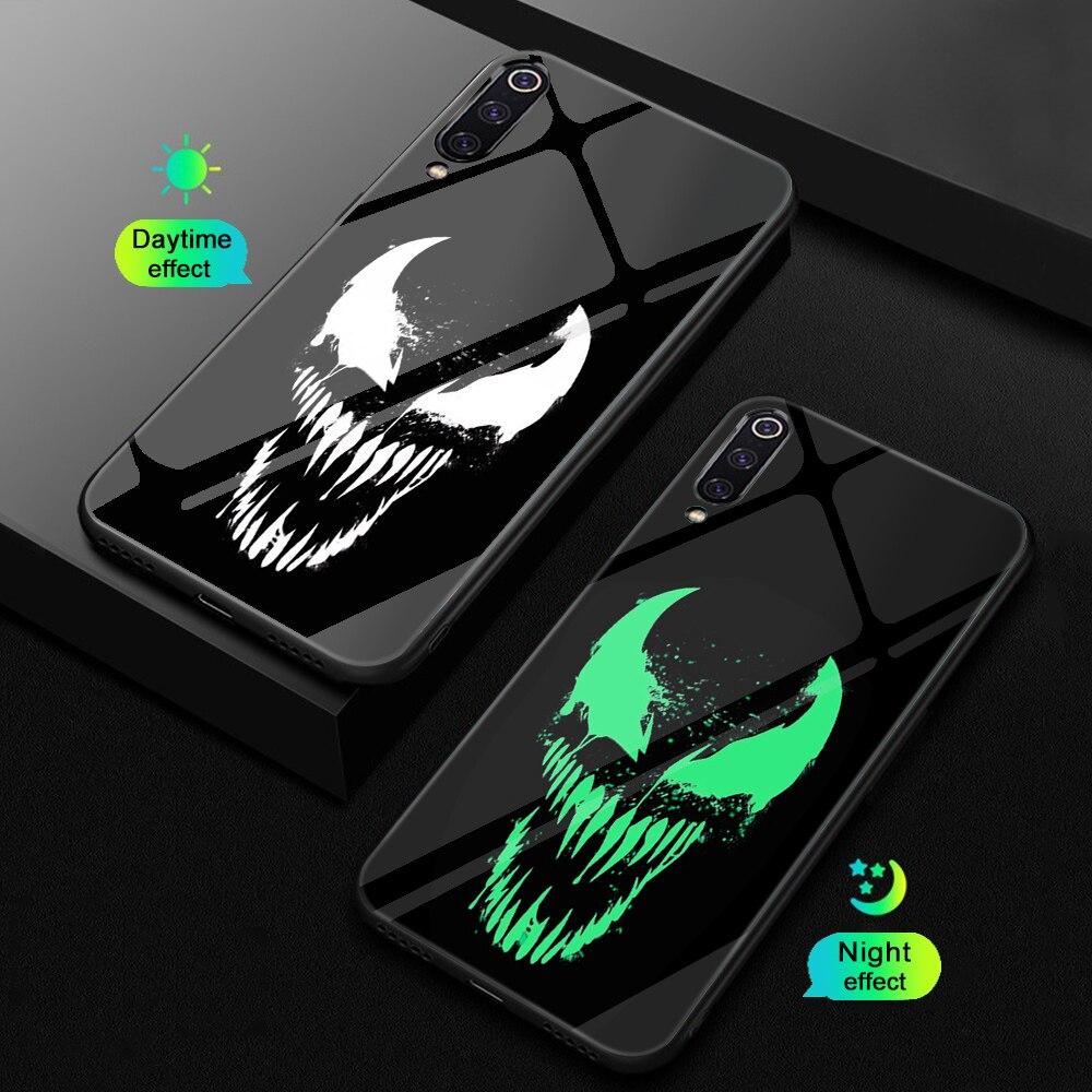 Ciciber для Xiaomi MI 9 8 A2 6X T MIX 2 2S PocoPhone F1 стеклянные чехлы для телефонов для Redmi Note 7 8 6 Pro Plus чехол Coque Marvel Venom