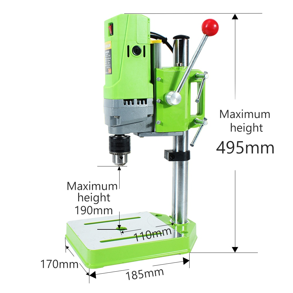 OMY 710W Bench Drill Stand Mini Electric Bench Variable Speed Drilling Machine Drill Stand Steel Chuck 1-13mm For Woodworking enlarge
