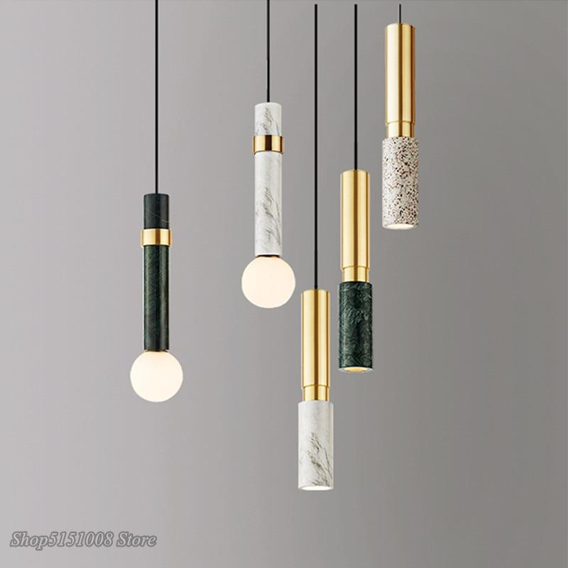 مصباح معلق من الرخام على الطراز الاسكندنافي ، تصميم عصري مفرد ، إضاءة داخلية زخرفية ، مثالي لغرفة النوم أو غرفة الطعام أو المكتب.