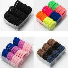 30 pz/set donne ragazze colorate Nylon elastico fasce per capelli coda di cavallo titolare elastici Scrunchie accessori per capelli fascia