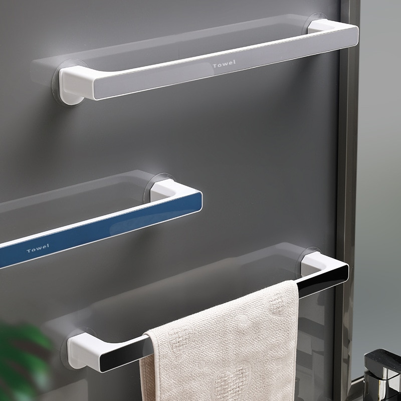 Bathroom Towel Storage Rack Toilet Perforated Wall-Mounted Hook Kitchen Wipes Hanging Gadgets