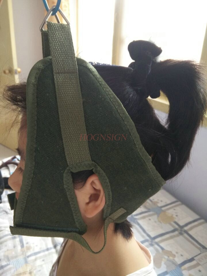 cervical traction Green Canvas Cervical Traction Belt Sling Tractor Stretch Chair Thickening Hood Ne