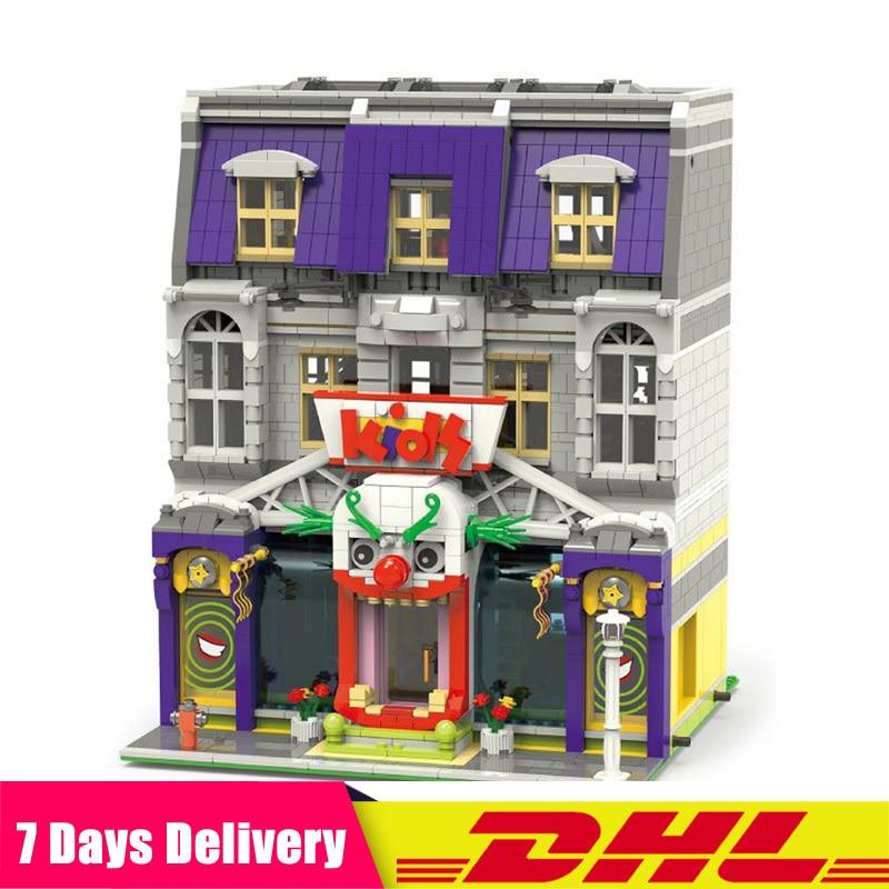 Dhl em estoque 10181 criador arquitetura cidade especialista rua coringa parque modelo blocos de construção tijolos crianças compatíveis 07090 70922