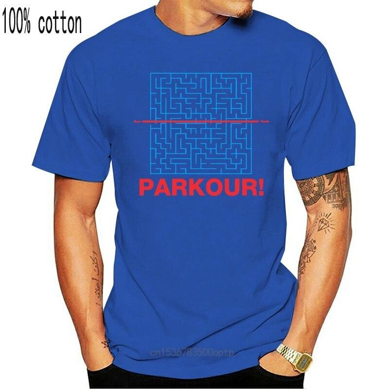 Parkour! Freies Running Lustige Labyrinth Slogan T-Shirt Streetwear Tops T Shirt