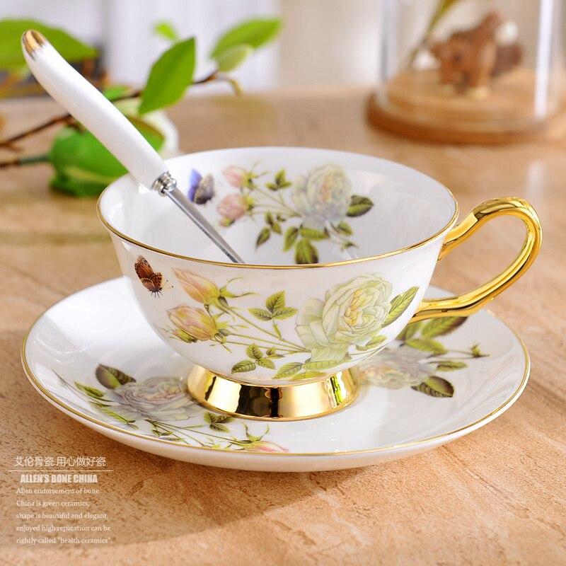 طقم فناجين قهوة خزفية ذهبية فاخرة ، طقم شاي صيني تقليدي ، بورسلين ملكي ، فنجان شاي وصحن عالي الجودة II50BYD