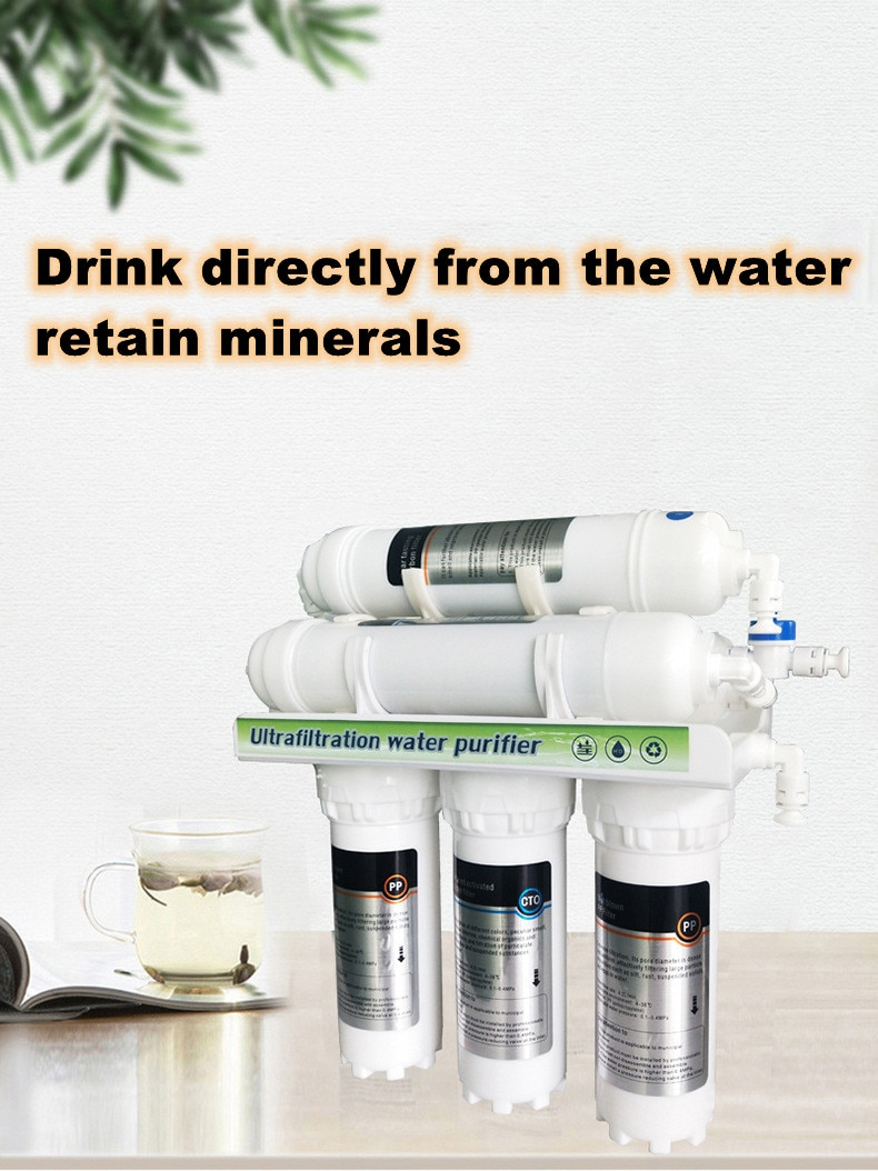 6 مراحل الترشيح الفائق نظام تنقية المياه المنزلية صنبور المطبخ تنقية مياه الشرب الترشيح المنزلية الترشيح الفائق