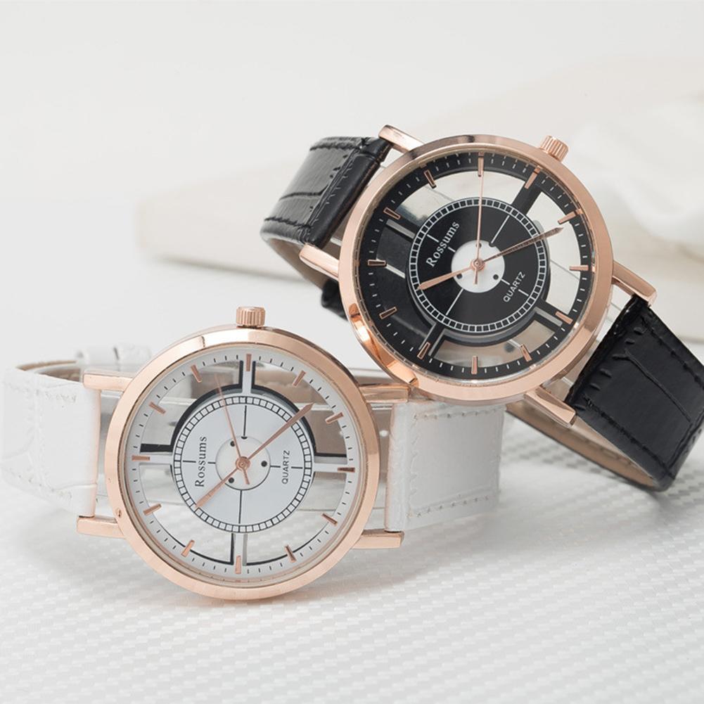 2019 Fashion Couple Watches Men Women Trend Retro Personality Belt Hollowing Students Quartz Watch F