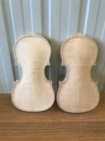 1 pcs high quality 14 unfinished violin body white body spruce panel maple back luthier diy violin