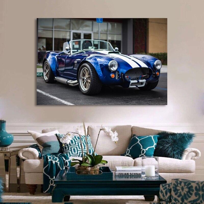 Superdeportivo carteles Shelby AC Cobra Vintage coche Cabriolet imagen pintura de la...