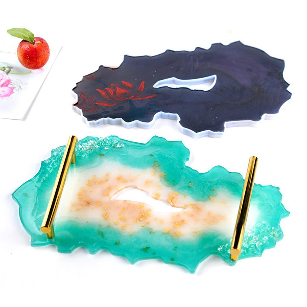 Molde de silicona Irregular para posavasos, molde para bandeja, molde de epoxi para manualidades DIY