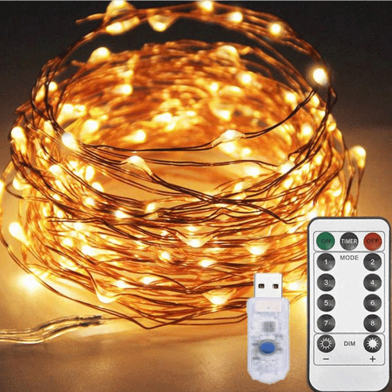 led string light silver wire fairy lights usb garland home christmas wedding party decorations light powered by usb 5m 10m 20m LED String Lights Silver Wire Garland LED Powered By USB Fairy Lights  Home Christmas Decorations for Home Christmas Lights
