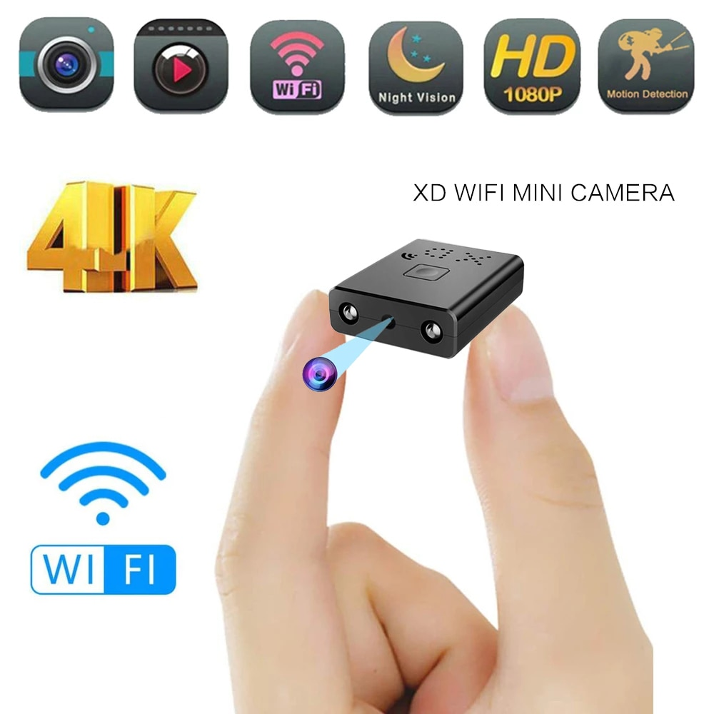 Mini Wifi Camera Full Hd 4K 1080P Home Security Camcorder Nachtzicht Micro Geheime Cam Bewegingsdete