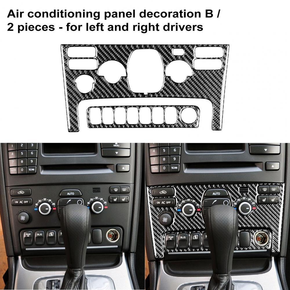 scallop trim crochet panel embroidered top Anti-corrosive 2Pcs Practical Interior Air Conditioning Panel Trim Carbon Fiber Panel Trim Cover Protective