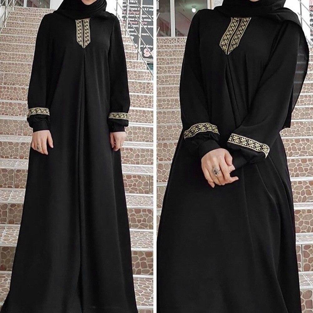 Vestido de talla grande Abaya Jilbab musulmán, caftán informal, largo