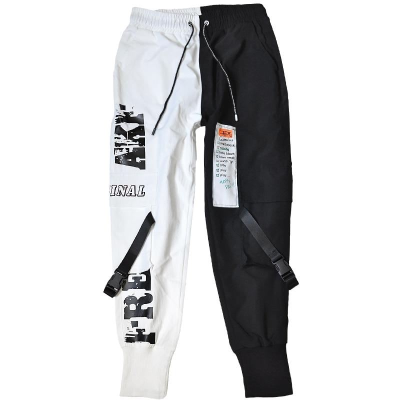 Брюки мужские в стиле хип-хоп, джоггеры, Повседневная Уличная одежда, брюки-султанки, мужские брюки с лентами, спортивные штаны, 2020