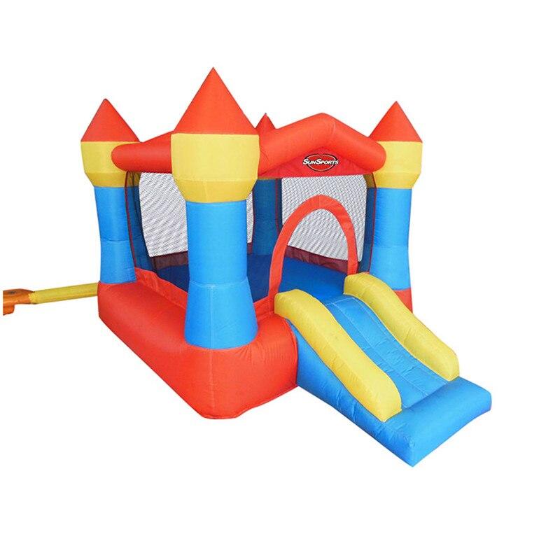 Castillo inflable para niños, parque Infantil al aire libre, tobogán para saltar...