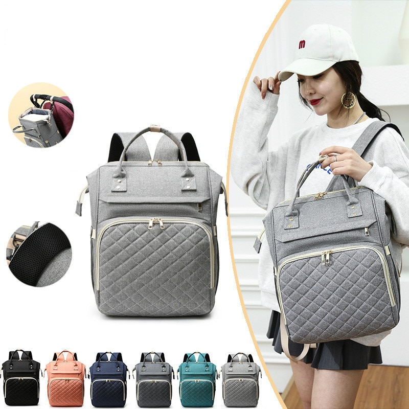 Fashion Mummy Maternity Nappy Diaper Backpack Bag Travel Backpack Mummy Backpack Multi-Function Waterproof Diaper Bags