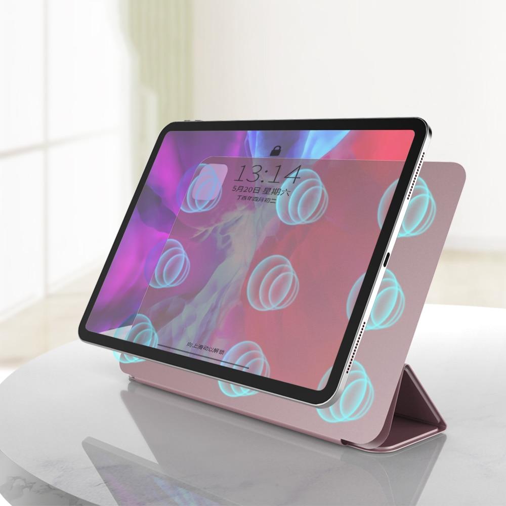 Caso para ipad pro 11 12.9 pro 11 2020 caso 2018 multi-fold couro do plutônio capa inteligente para ipad pro 11 2020 funda capa