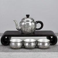 Love lotus sterling silver tea set home silver pot sterling silver tea ceremony tea set drinking tea set small tea set