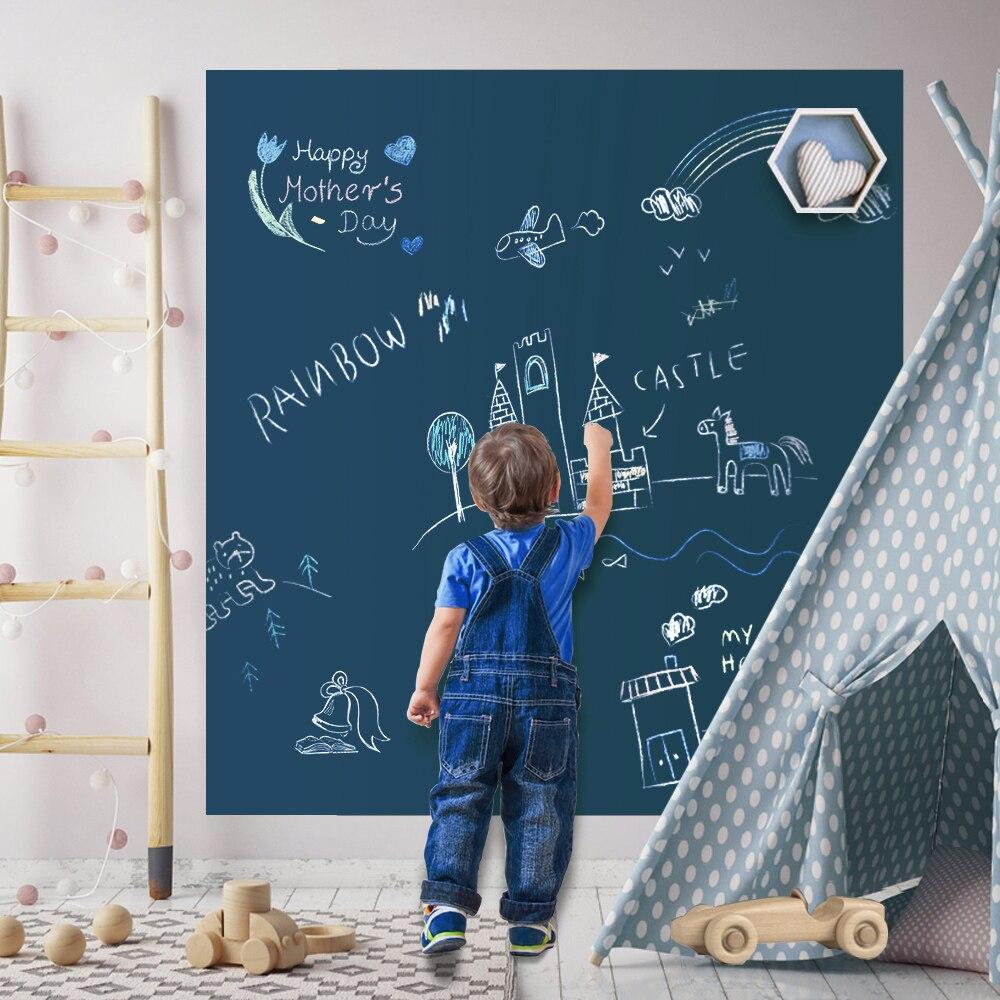 Magnético pizarra de DIY tablero de dibujo con tiza Pen niños dibujo para pintar la educación juguetes para niños regalo de cumpleaños