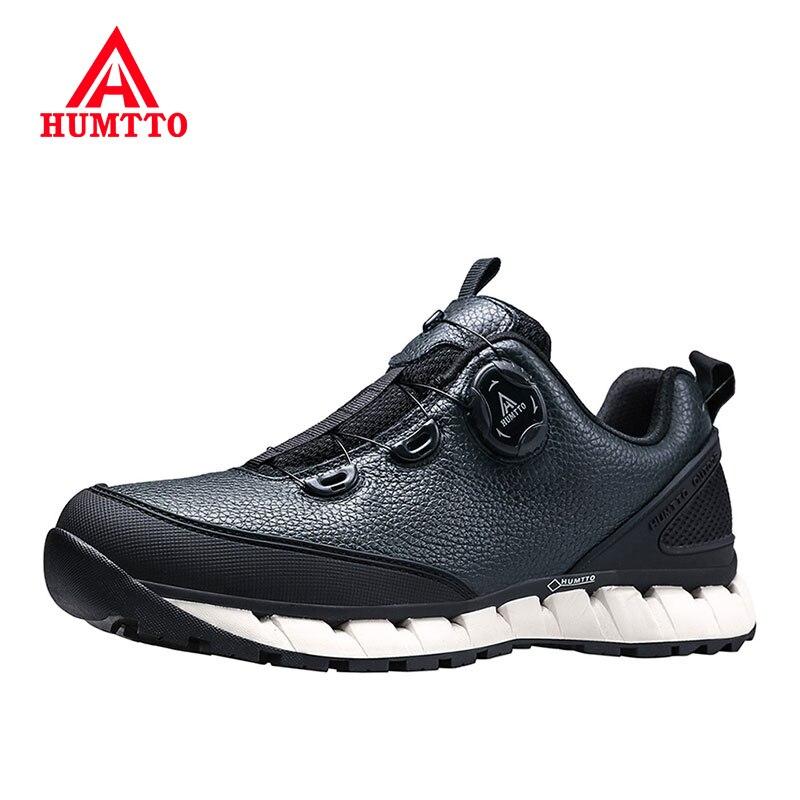 HUMTTO حذاء رجالي جلد الشتاء حذاء كاجوال موضة مقاوم للماء العلامة التجارية الفاخرة مصمم حذاء برقبة للعمل رجل عدم الانزلاق أحذية رياضية للرجال