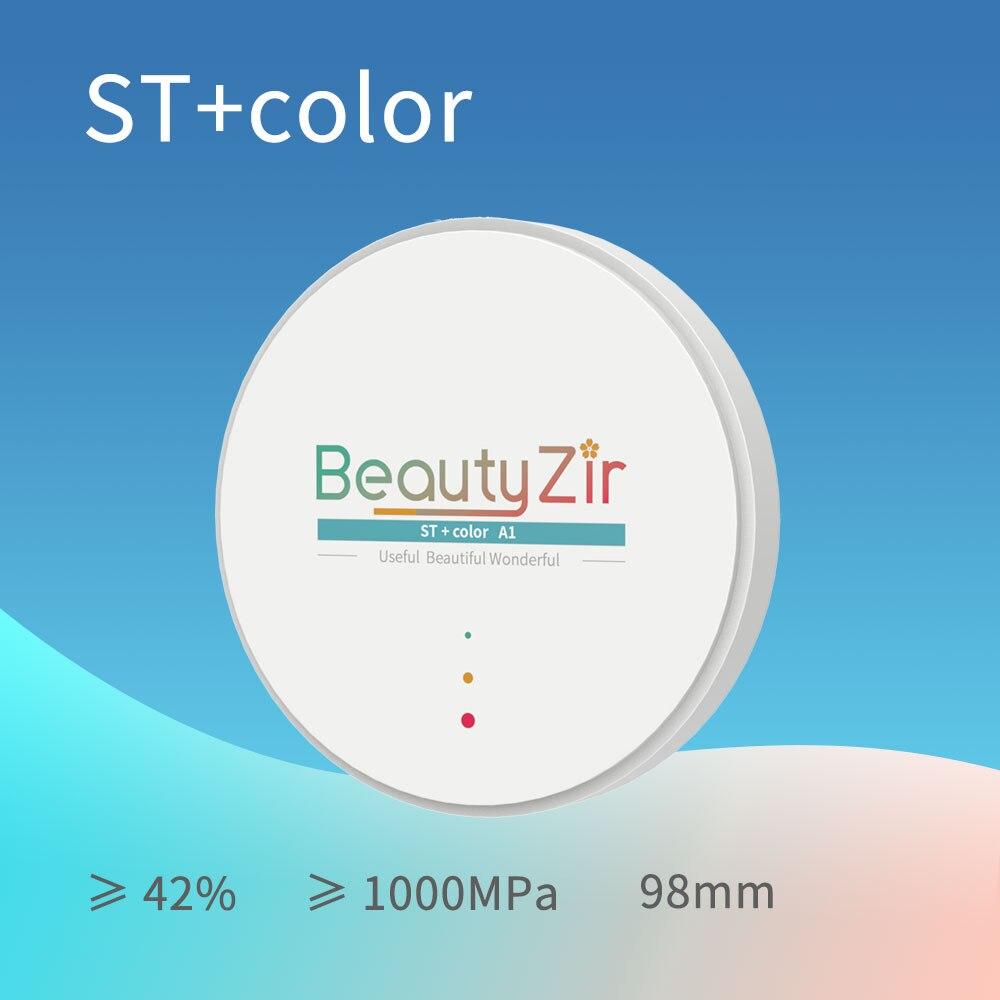 Bloques de zirconia dental preteñidos ST + C/disco -- Sistema Abierto (98mm)(grosor 10-20mm)