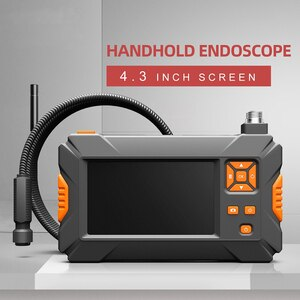 P30 handhold screen endoscope camera 5.5mm semi-rigid cable 8mm 2.0mp snake camera HD 4.3inch display monitor with 18650 battery