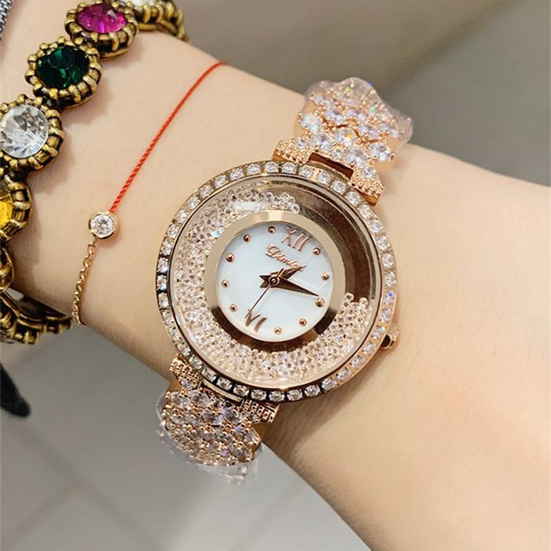 New Rose Gold Women Watches Business Quartz Watch Ladies Top Brand Luxury Female Wrist Watch Girl Clock Hours montre femme 2019