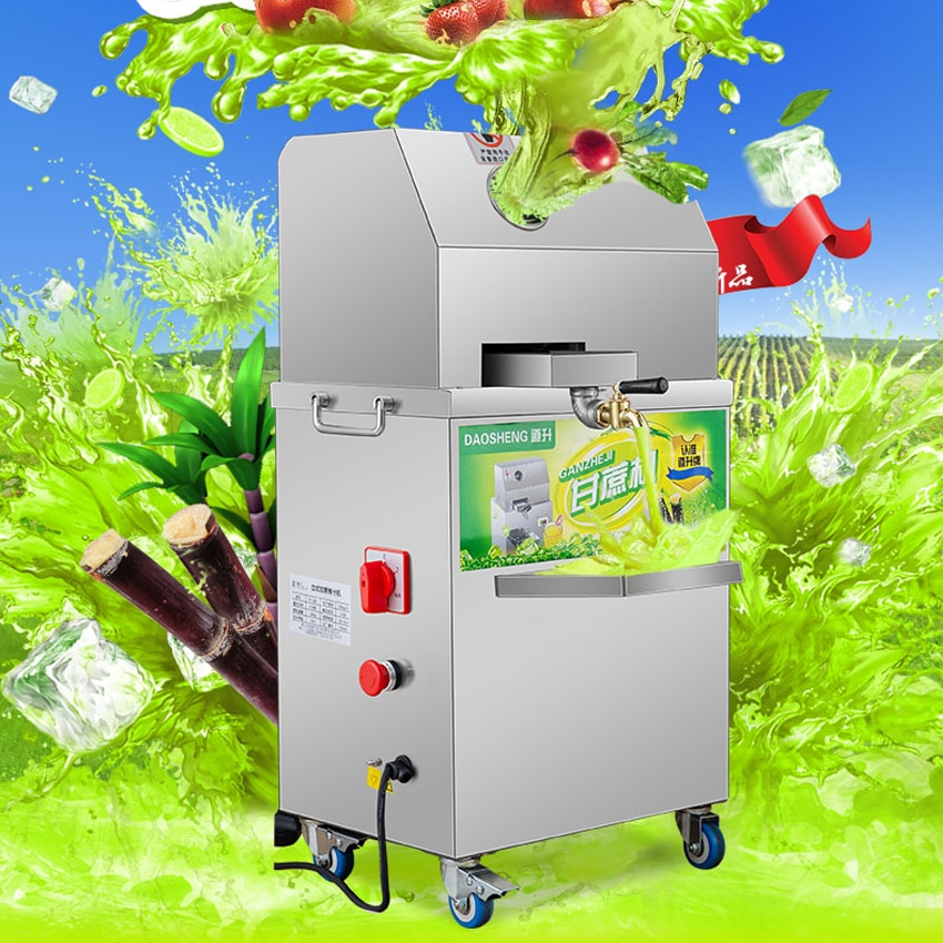 Automatic Adjustment Sugar Cane Machine SXC-80 Sugarcane Juicer Press Machine Juicer Extractor Juice Extractor Juicer 300kg / h household juicer automatic blender juicer machine multi function meat grinder ice crusher power machine electric juice extractor