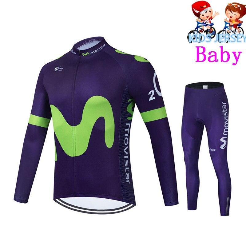 Movistar-Conjunto de camisetas de Ciclismo para niños, Ropa de Ciclismo transpirable de...